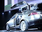 Buzzy space-age Tesla Model X unveiled