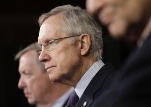 Senate Majority Leader Harry Reid of Nev., center, …