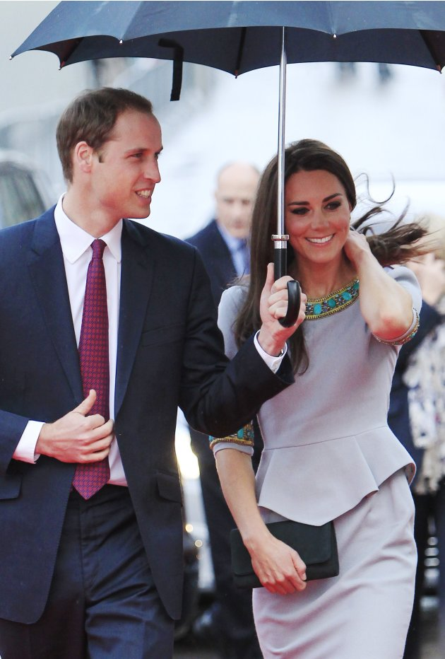 """Britain's Prince William and Catherine, Duchess of Cambridge arrive for the British Premiere of """"African Cats"""" at the BFI Southbank in London"""