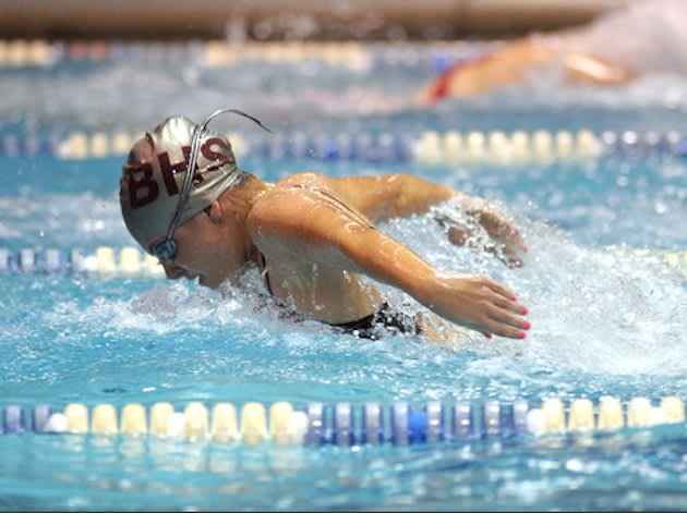 Broadneck swimmer Lauren Fogarty swims at Anne Arundel County Championships — Annapolis Capital