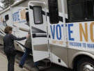 Vote No: Don't Limit the Freedom to Marry tour bus