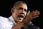 U.S. President Obama speaks during a campaign event in Las Vegas