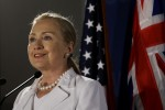 U.S. Secretary of State Hillary Rodham Clinton speaks at University of Western Australia, in Perth