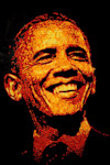IMAGE DISTRIBUTED FOR CHEETOS - President Barack Obama is immortalized in a 3 feet by 4 feet portrait made entirely of more than 2,000 Cheetos cheese snacks by Colorado Springs. Colo. artist, Jason ...