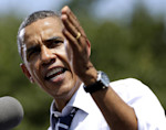 FILE - In this Aug. 28, 2012 file photo, President Barack Obama speaks in Ames, Iowa. Republicans in Tampa, Florida, this week cast President Barack Obama as an executive who takes his cues from ...