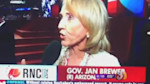 Brewer accidentally backs Obama in live interview at RNC
