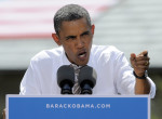FILE - In this Aug. 9, 2012 file photo, President Barack Obama speaks in Colorado Springs, Colo. Democrats are growing increasingly confident that a two-pronged tax attack on Republican Mitt Romney ...