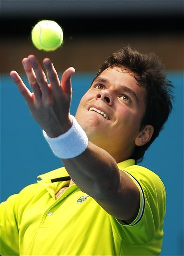 Milos Raonic From Canada Serves