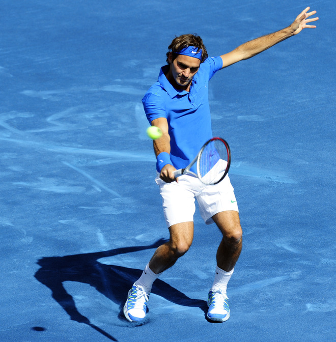 Swiss Roger Federer Returns