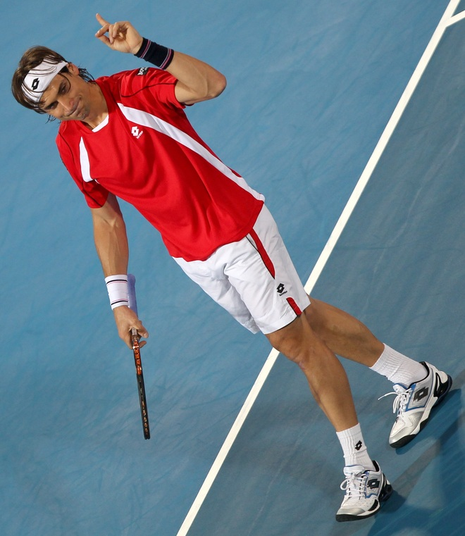 David Ferrer Of Spain Gestures