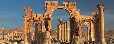 Palmira, Siria. También llamada Tadmir, está ubicada a en la provincia de Homs. (Thinkstock/Getty Images)