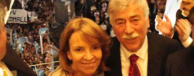 Carlos Soria y Susana Freydoz / Foto: Télam