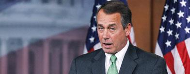 House Speaker John Boehner of Ohio speaks during a news conference on Capitol Hill in Washington, Thursday, Feb. 10, 2011. (AP Photo/Manuel Balce Ceneta)
