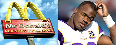 McDonald's worker fired over NFL star