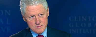 Former President Bill Clinton at the Clinton Global Initiative America (Yahoo! Studios)