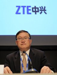 ZTE Executive Vice President, He Shiyou, pictured in February. Chinese telecom giants Huawei and ZTE pose a security threat to the United States and should be barred from US contracts and acquisitions, a yearlong congressional investigation has concluded