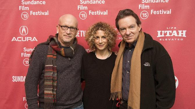 "FILE - In this Jan. 25, 2015 file photo, director Alex Gibney, left, Sara Bernstein, Senior Vice President of Programming for HBO Documentaries, and author/producer Lawrence Wright, right, attend the premiere of ""Going Clear: Scientology and the Prison of Belief"" during the 2015 Sundance Film Festival in Park City, Utah. The documentary has been seen by more than 5.5 million people since its debut two weeks ago. It is likely to wind up being second only to a 2013 movie on Beyonce as the premium cable network's most-watched documentary of the past decade, HBO said Monday, April 13, 2015. (Photo by Arthur Mola/Invision/AP, File)"