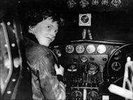 A 1930's file photo shows US aviator Amelia Earhart at the controls of an aircraft in Essonne, France. Seventy-five years after Amelia Earhart disappeared over the Pacific, a research team is setting off July 2 with high hopes of resolving the mystery surrounding the pioneer. (AFP Photo/)