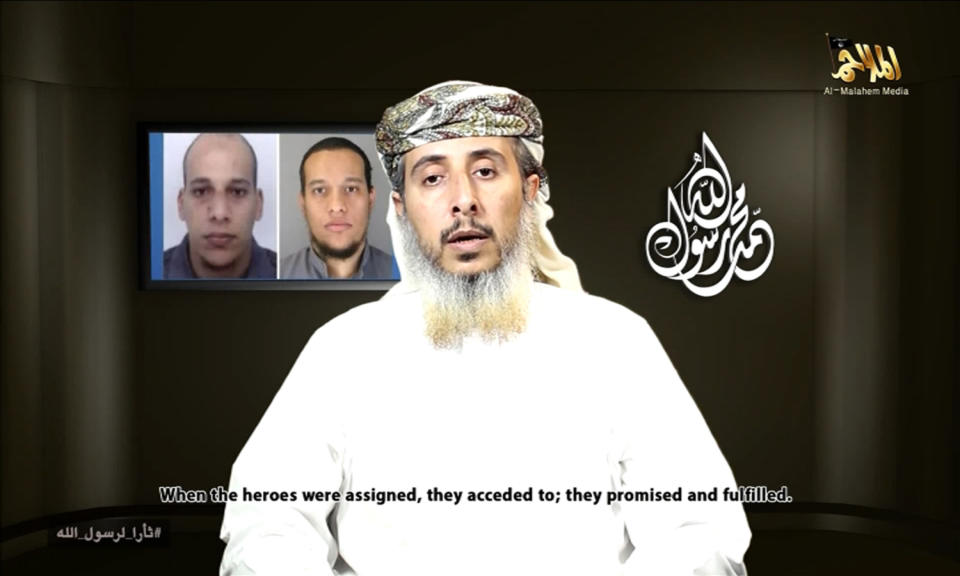 Still image of a leader of the Yemeni branch of al Qaeda Nasser bin Ali al-Ansi