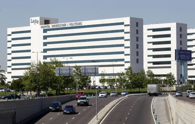 A view of the University and Polytechnic Hospital La Fe is seen in Valencia