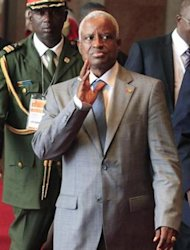 Guinea Bissau President Manuel Serifo Nhamadjo arrives for a West African regional bloc ECOWAS summit on the crisis in Mali and Guinea Bissau, at the Fondation Felix Houphouet Boigny in Yamoussoukro February 28, 2013. REUTERS/Thierry Gouegnon