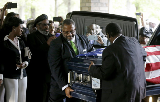 Walter Scott, a veteran of the U.S. Coast Guard, was buried on Saturday in Summerville, S.C. (Photo: David Goldman, AP/Pool)
