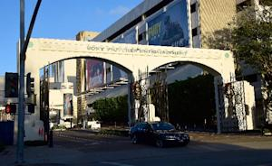 The entrance to Sony Pictures Entertainment is seen …