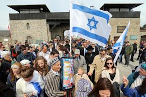 Members of a delegation from Israel arrive for a ceremony …