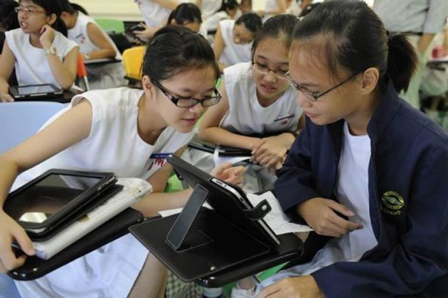 Singapore students are ranked as one of the best in math, science and reading literacy. (AFP file photo)