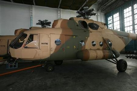 One of the Russian-made Mi-17 helicopters purchased by Alabama-based Defense Technology Inc (DTI) is seen in Ulan Ude, Russia in this picture taken January 3, 2011. REUTERS/Defense Technology Inc. (DTI)/Handout