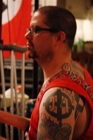 "Wade Michael Page is seen in this undated picture from a myspace.com web page for the musical group ""End Apathy"""