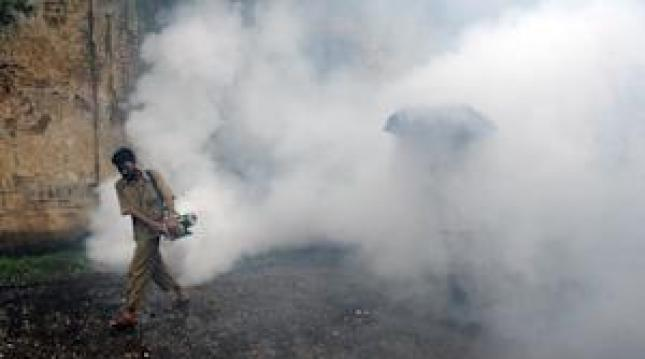 A municipal worker uses an anti-malaria fumigation … http://www.sundayadelajablog.com