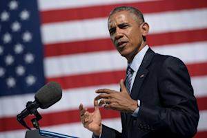 US President Barack Obama speaks about trade policy …