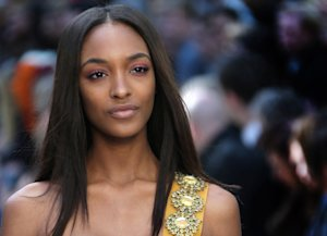 Model Jourdan Dunn wears a design created by Burberry …