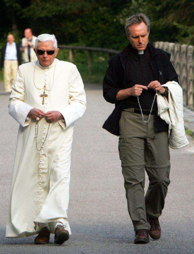 Pope Benedict XVI and Georg Ganswein