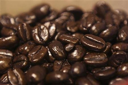 Coffee beans are seen at a Nairobi Java House outlet in Nairobi January 21, 2012. REUTERS/Noor Khamis
