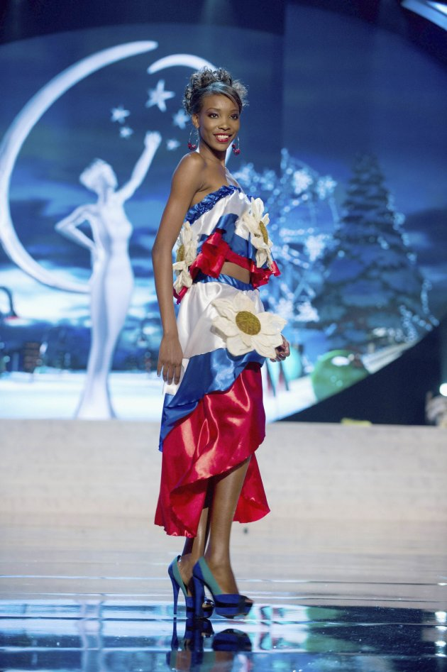 Miss Haiti Christela Jacques performs onstage at the 2012 Miss Universe National Costume Show at PH Live in Las Vegas