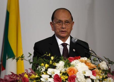Myanmar's President Thein Sein speaks at the Mekong-Five Economic Forum hosted by JETRO in Tokyo