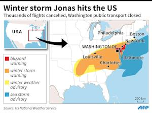 Winter storm Jonas hits the US