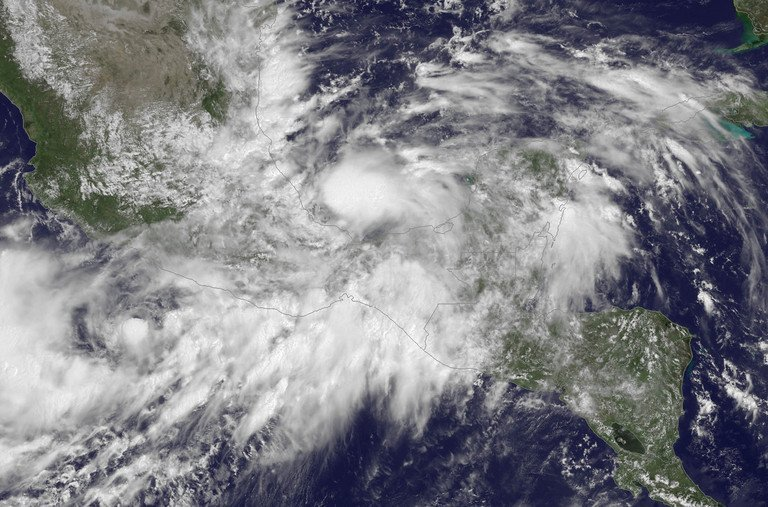 This NOAA GOES East satellite image released on September 13, 2013 shows Tropical Storm Ingrid