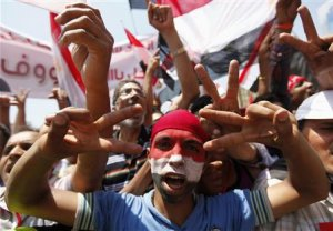 Protesters opposing Egyptian President Mohamed Mursi …