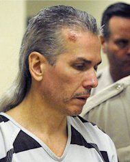 FILE - This April 13, 2011 file photo shows Rodney Berget, now awaiting execution for bludgeoning a prison guard to death with a pipe during an attempted escape, in Sioux Falls, S.D. For Berget's immediate family, his fate is somewhat familiar. He is the second member of the clan to be sentenced to death. His older brother, Roger Berget, spent 13 years on Oklahoma's death row until his execution in 2000 at age 39. (AP Photo/The Argus Leader, Elisha Page, File) NO SALES