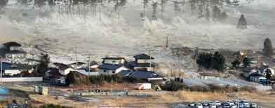 Tsunami Jepang (Foto: AP/Kyodo)