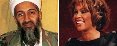 Osama bin Laden dan Whitney Houston (AP)