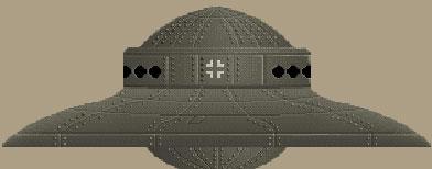 Ilustración del presunto OVNI que habrían construido los nazis en su base de la Antártida. (Wikimedia Commons)