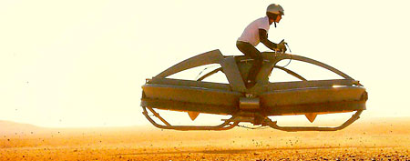 The Aerofex hover vehicle undergoes flight tests in California's Mojave Desert. (Aerofex)