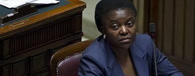 La ministra de Integración italiana, Cecile Kyenge. (AP/Andrew Medichini)