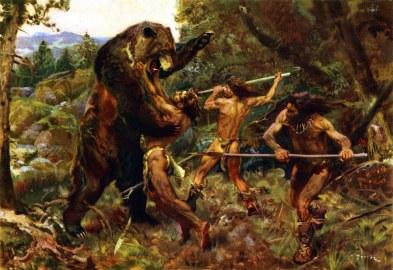 hunting_the_cave_bear_by_zdenek_burian_1952