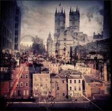 Danielle Zalcman New York London Eye Westminster double exposure