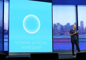 Microsoft CEO Satya Nadella demonstrates Cortana, Windows …